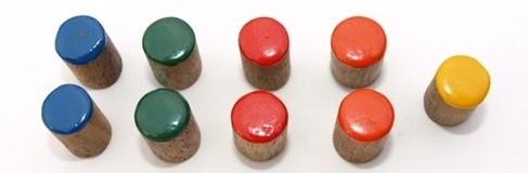 image of coloured pegs