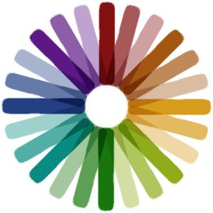circle - rainbow of colours