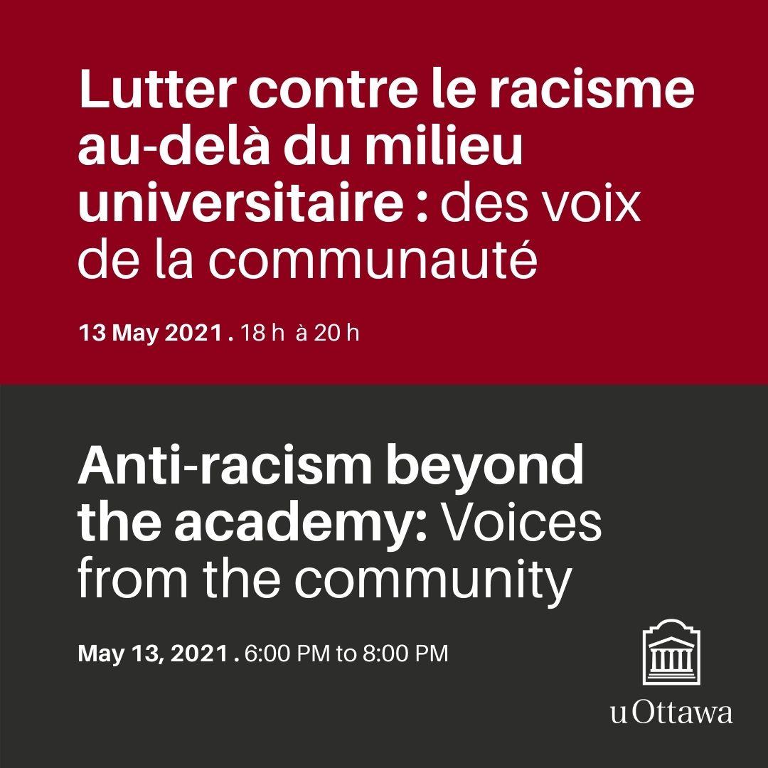 Lutter la racisme au-dela du milieu universitaire: des voix de la communaute