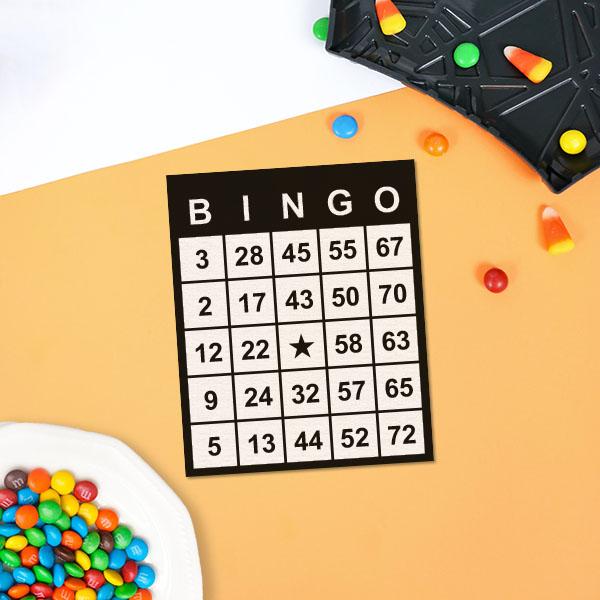 carte de bingo avec bonbons