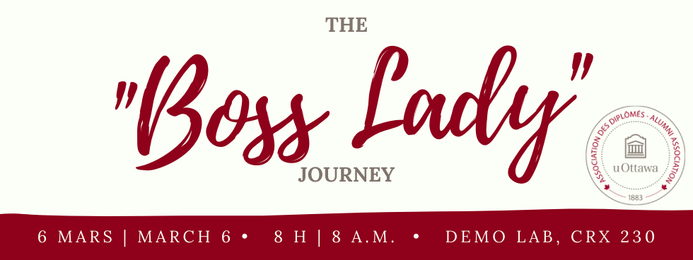 The boss lady journey, presented by the alumni association