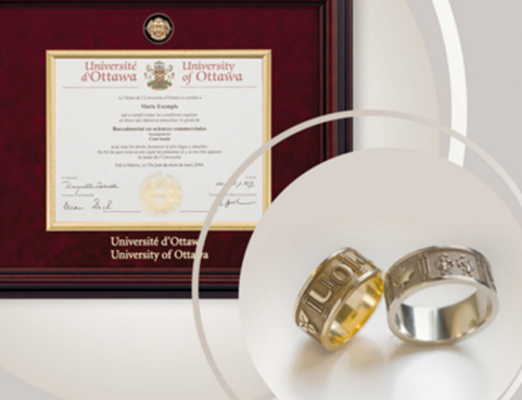 Official uOttawa frame and ring