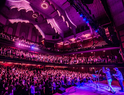 Audience at Massey Hall in Toronto