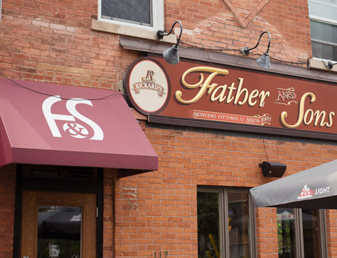 Father & Sons restaurant, exterior view
