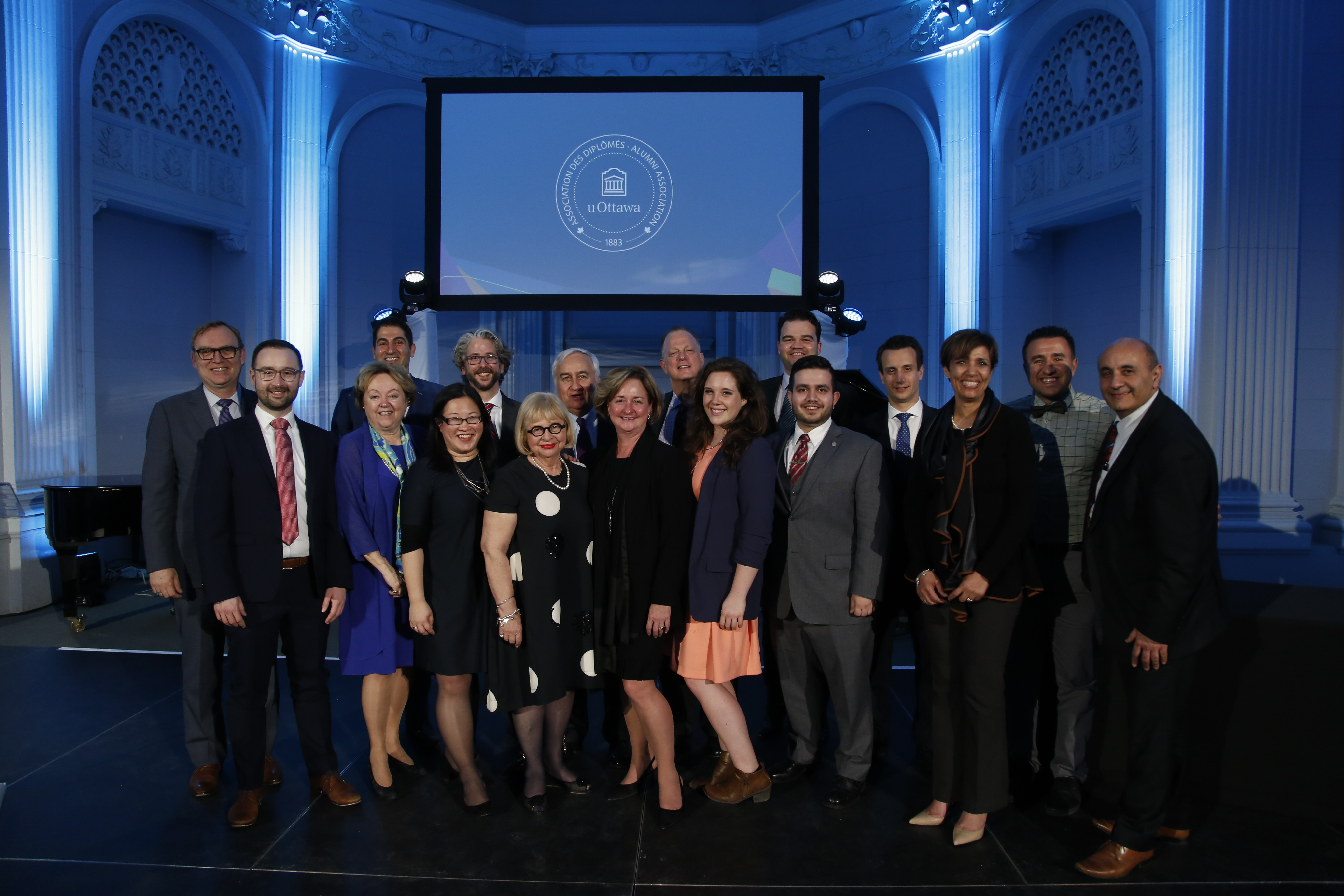 Photo of current members of the Alumni Association