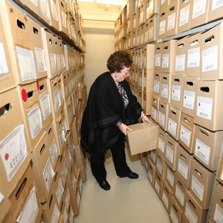 Entreposage de documents aux archives