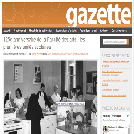 Première page de la Gazette