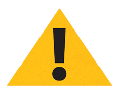 Report Emergency: Triangle with exclamation mark - icon of the 'Are you ready?' program.