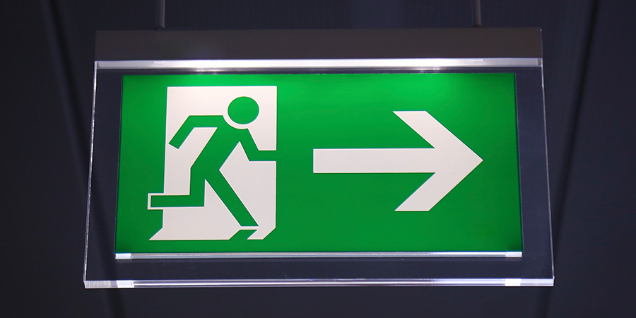 4.	Image of an evacuation sign