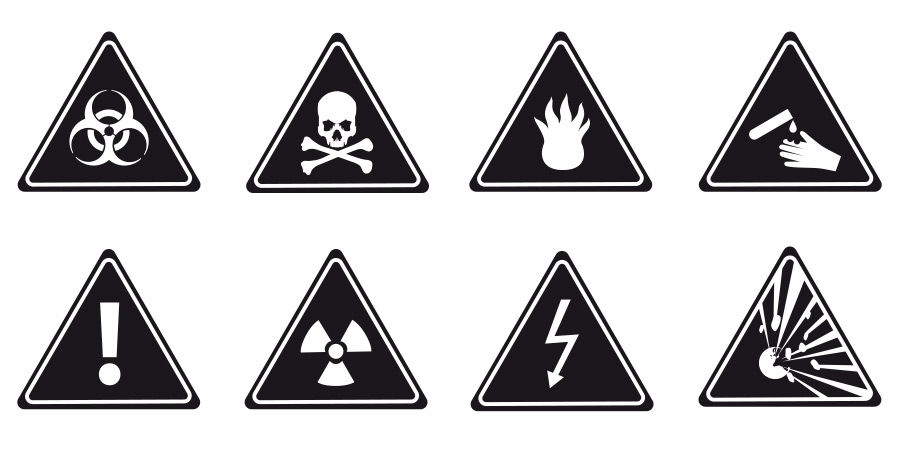 6.	Image of a collage of hazard symbols