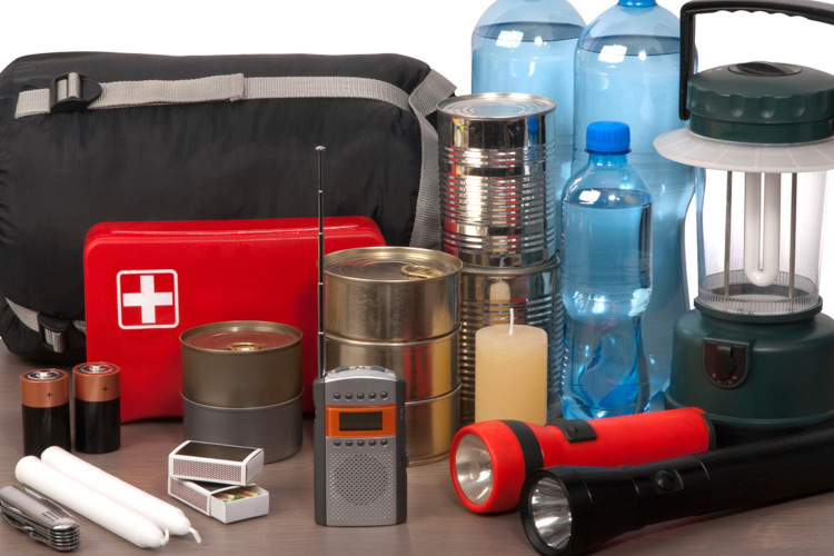 5.Image of emergency kit with supplies