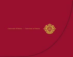 Jacket for University of Ottawa diploma