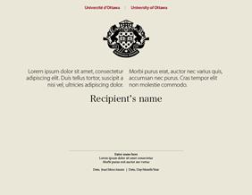 University of Ottawa certificate