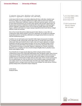 University of Ottawa letterhead
