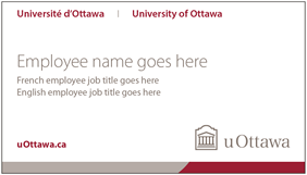 University of Ottawa business card