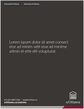 University of Ottawa presentation cover page