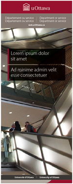 University of Ottawa retractable banner