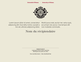 Certificat de l'Université d'Ottawa