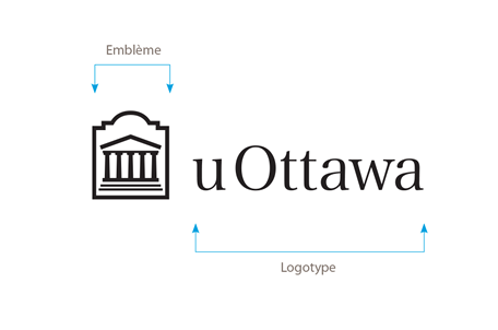 Logo horizontal noir de l'Université d'Ottawa sur fond blanc