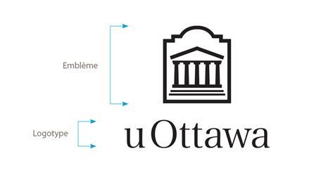 Logo vertical noir de l'Université d'Ottawa sur fond blanc