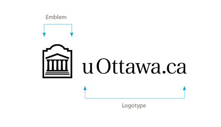 Horizontal black uOttawa.ca logo on white background