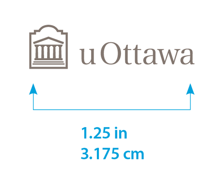 Minimum size for horizontal uOttawa logo