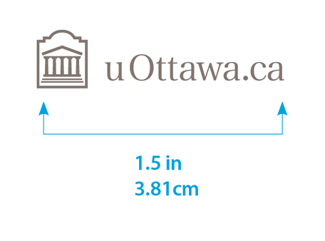 Minimum size for horizontal uOttawa.ca logo