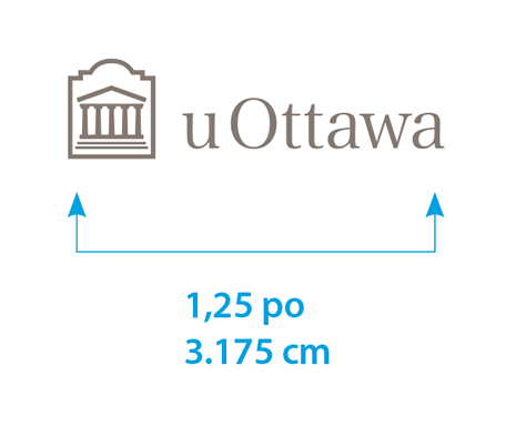 Taille minimale du logo uOttawa horizontal