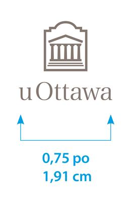 Taille minimale du logo uOttawa vertical