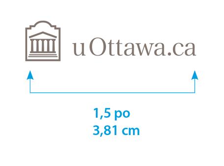 Taille minimale du logo uOttawa.ca horizontal