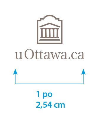 Taille minimale du logo uOttawa.ca vertical