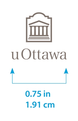 Minimum size for vertical uOttawa logo