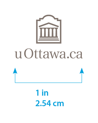 Minimum size for vertical uOttawa.ca logo