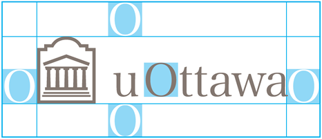 Space allowance for horizontal University of Ottawa logo