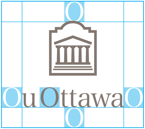 Space allowance for vertical University of Ottawa logo