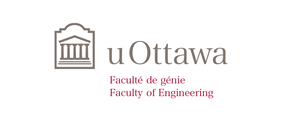 Horizontal University of Ottawa logo with Faculty of Engineering sub-brand