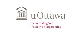 Horizontal University of Ottawa logo with Faculty of Engineering sub-brand