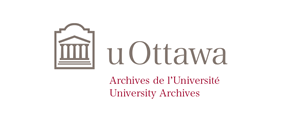Horizontal University of Ottawa logo with University Archives sub-brand