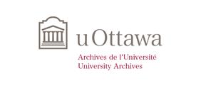 Horizontal University of Ottawa logo with University Archives sub-brand