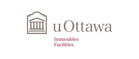 Horizontal University of Ottawa logo with Facilities sub-brand