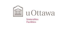 Horizontal University of Ottawa logo with Facilities sub-brand