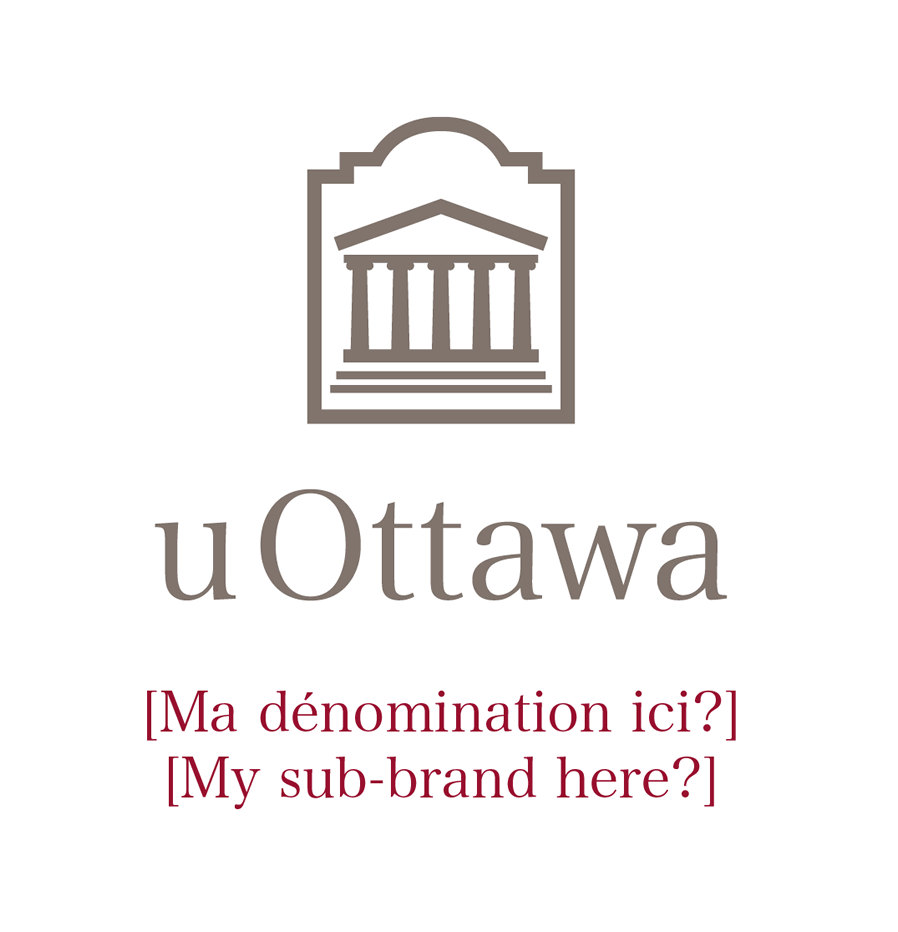 Vertical University of Ottawa logo with sub-brand
