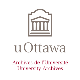 Logo de l'Université d'Ottawa vertical avec dénomination des Archives de l'Université
