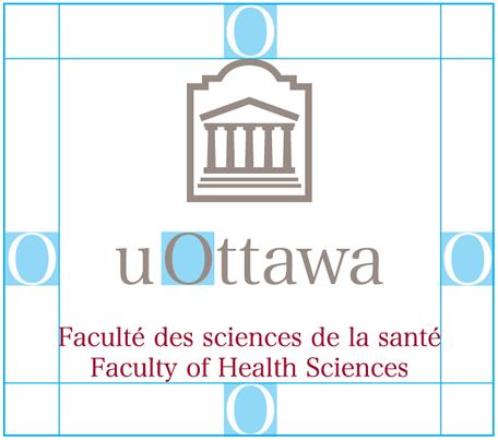 Zone de sécurité du logo de l'Université d'Ottawa vertical avec dénomination de la Faculté des arts