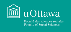 Faculty of Social Sciences white horizontal logo on turquoise background