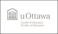 Logo horizontal de la Faculté d'éducation en gris sur fond blanc