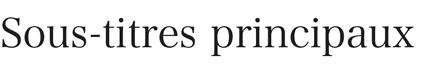 Exemple de sous-titre principal