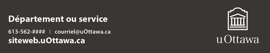 Pied de page contextuel avec coordonnées – logo vertical