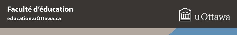 Pied de page de la Faculté d'éducation – couleur (bande de marque avec logo blanc horizontal)