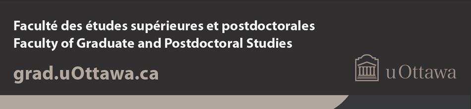 Pied de page de la Faculté des études supérieures et postdoctorales – couleur (bande de marque avec logo en couleur horizontal)
